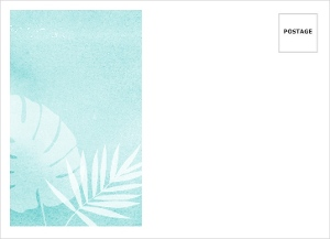 Tropical Watercolor Palms Wedding Custom Envelope