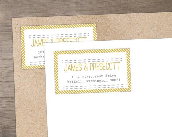 Beautiful Modern Statement Typography Wedding Address Label