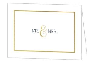 Faux Foil Midnight Stars Wedding Thank You Card