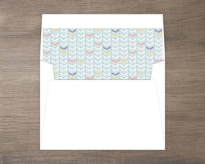 Chic Boho Feather Envelope Liner