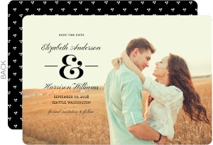 Modern Dot Frame Save The Date Card