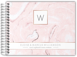 Faux Rose Gold and Blush Marble Guest Book