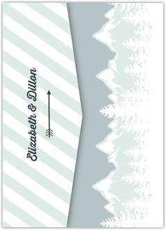 Scenic Winter Mountain Pocketfold Wedding Invitation