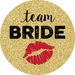 Team Bride Faux Gold Glitter Button