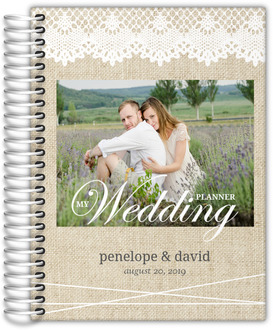 Beautiful Burlap & Lace Wedding Planner