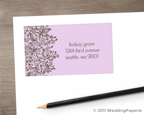 Elegant and Simple Address Label