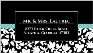 Elegant black white aqua address label 391 53606 1 big