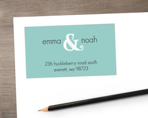 Blue and White Wintry Address Label