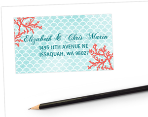 Watercolor Coral Address Label