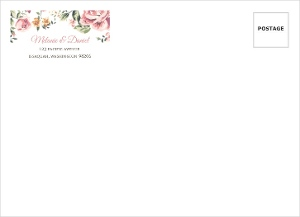Pink Roses Custom Wedding Envelope