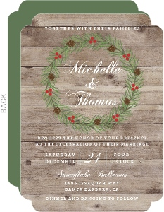 Christmas In The Woods Wedding Invitation