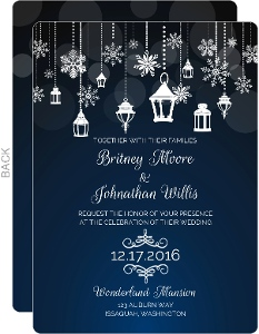 Winter Ornaments Wedding Invitation