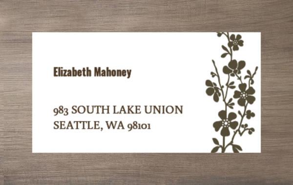 Bold and Beautiful Address Label