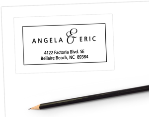 Black and White Fleur de Lis Address Label