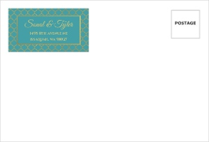 Bright Mandala Faux Gold Wedding Envelope