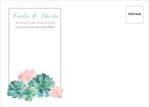 Watercolor Succulents Custom Envelope