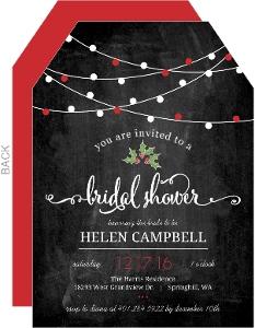 Hanging Lights Chalkboard Bridal Shower Invitation