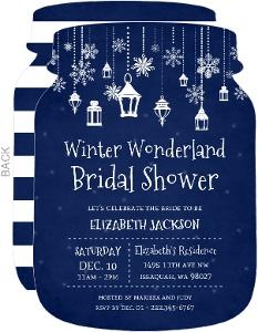 Whimsical Winter Lantern Bridal Shower Invitation