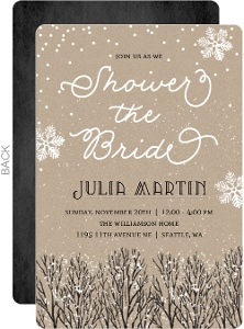 Rustic Winter Tree Bridal Shower Invitation