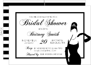Elegant Stripes Tiffany Bridal Shower Invitaion