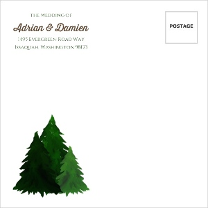 Rustic Watercolor Pine Tree Custom Envelope
