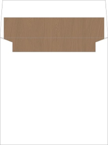 Rustic Watercolor Pine Tree Envelope Liner