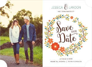Fall Wreath Save The Date Magnet