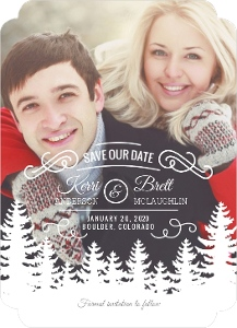 Winter Trees Decor Save The Date Magnet