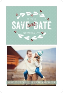 Simple Vintage Wreath Save The Date Magnet