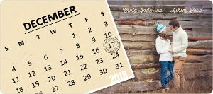 Fun Slanted Calendar Save The Date Magnet