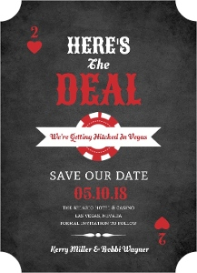 Rustic Poker Chip Save The Date Magnet
