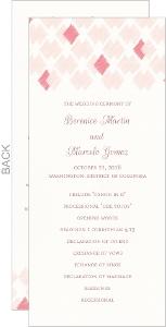 Blush Ikat Pattern Wedding Program