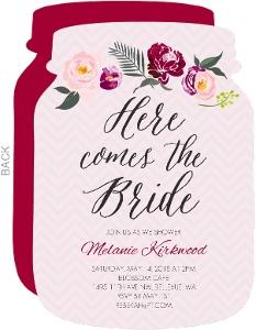 Floral Boho Bridal Shower Invitation
