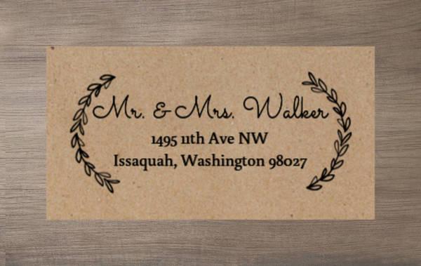 Chalk Wreath Address Label