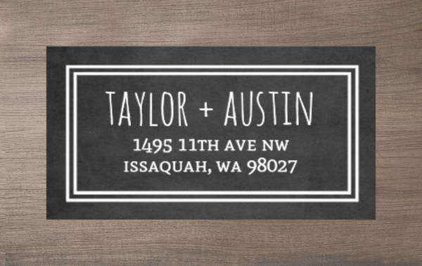 Rustic Barn Chalkboard Address Label