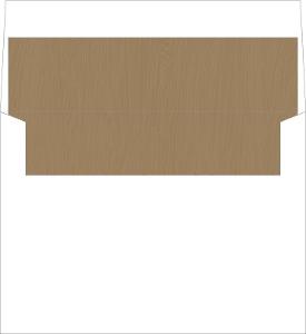Rustic Woodgrain & Mint Envelope Liner