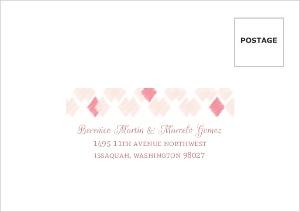 Blush Ikat Pattern Wedding Response Envelope