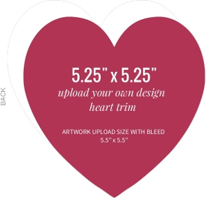 Upload Your Own Design 5.25x5.25 Heart Card