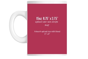 Upload Your Own Design 8.75 x 3.75 Coffee Mug