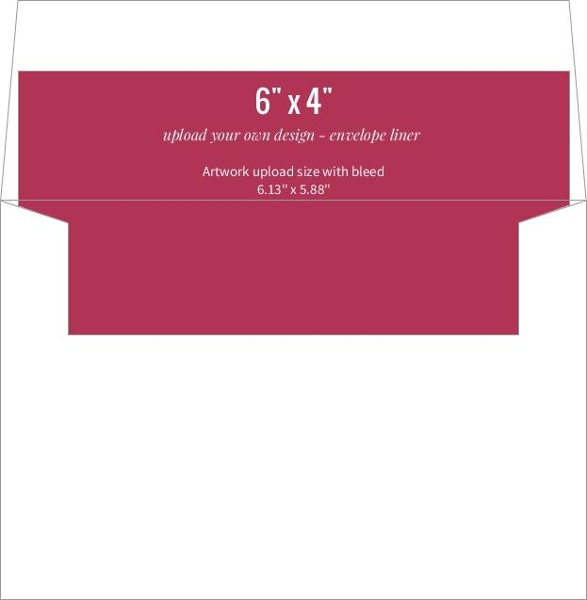 Upload Your Own Design 6x4 Envelope Liner | Upload Stationery Design