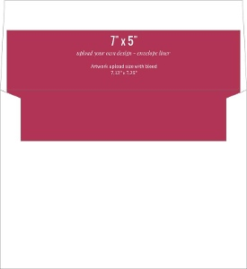 Upload Your Own Design 7x5 Envelope Liner