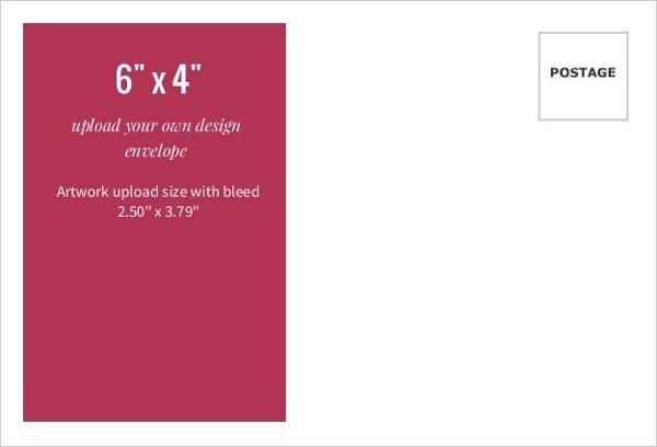 Upload Your Own Design 6x4 Envelope | Upload Stationery Design