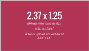 Upload Your Own Design 2.37x1.25 Address Label