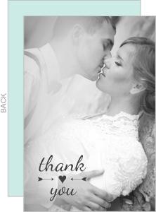 Simple Heart & Arrow Wedding Thank You Card