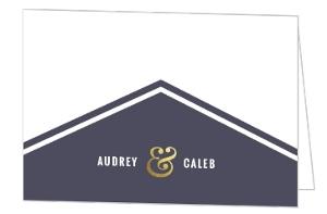 Geometric Typography Wedding Thank You Card