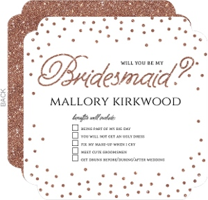 Benefits of Bridesmaid Will You Be My Card