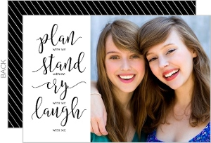 Plan Stand Cry Laugh Will You Be My Card