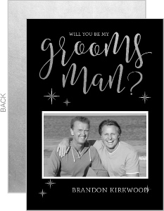Elegant Silver Will You Be My Groomsman Card