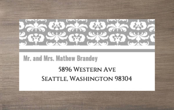 Gray and White Striped Enclosure Card