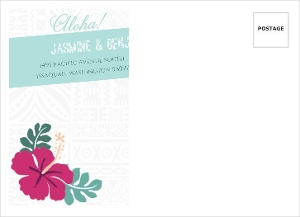 Hawaiian Floral Pattern Wedding Custom Envelope